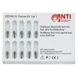 NTI-Kahla коренови щифтове от титан-актив 10 броя рефил No 1 -конус