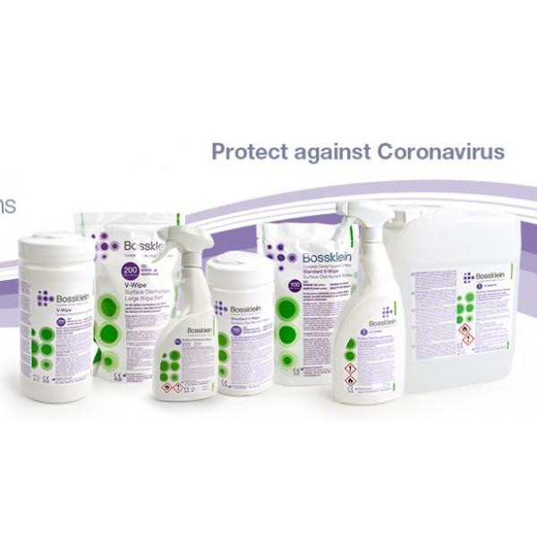 Alcohol Surface disinfectant - 1литър готов разтвор+ 300 бр дезинф.кърпички + подарък 300 бр кърпички
